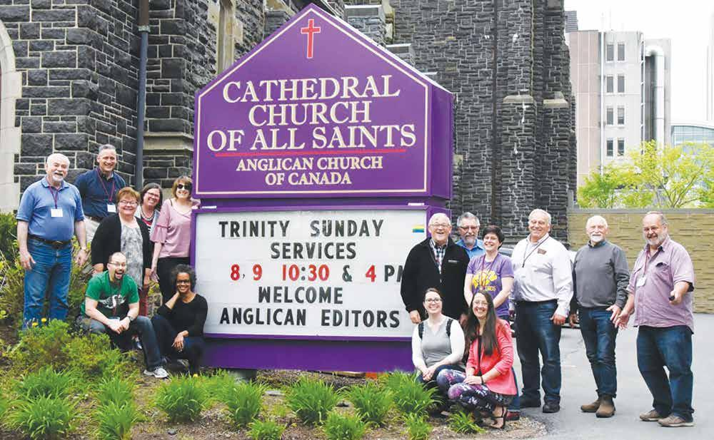 THE QUEBEC DIOCESAN GAZETTE OCTOBER 2018 7 The Anglican newspaper editors from across Canada during a break at their conference Photo: Paul Sherwood Anglican Editors Association holds a three day