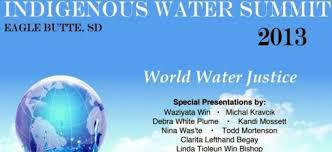 The Mni Indigenous Water Summit By Elissa J. Tivona and Christinia Eala Mni wicozani is a native Lakota phrase meaning through water there is life.