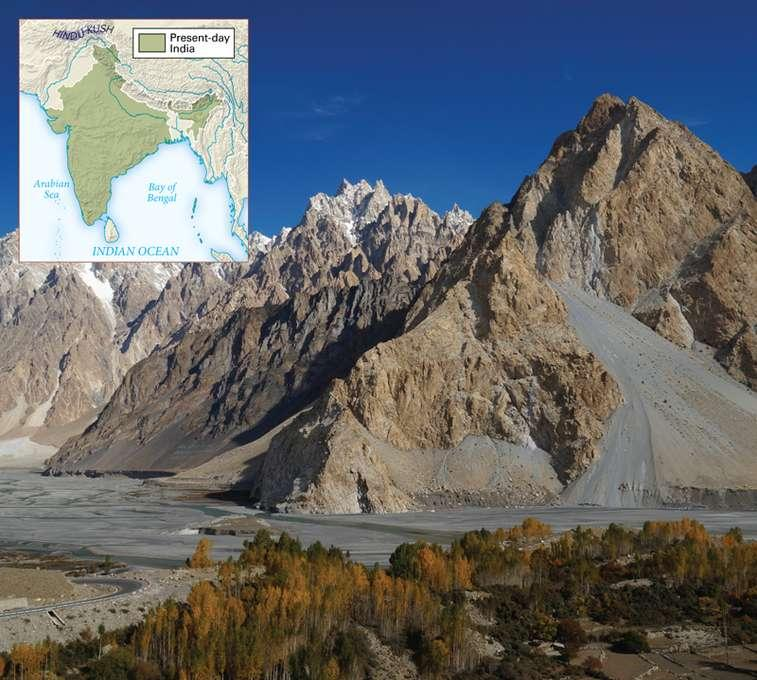 13.6 Geography Hindu Kush Mountains Forms rugged barrier between Indus River