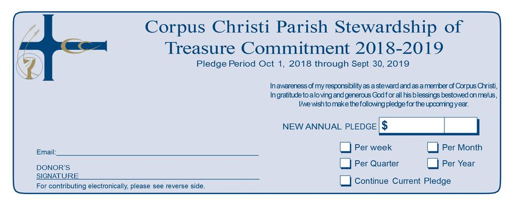 Stewardship Treasure Worksheet Use the forms below to begin the process of sharing your treasure through Stewardship 2019.
