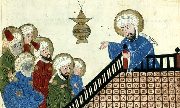 Muhammad 1. born around 570 AD 2. became a trader, married his boss 3.