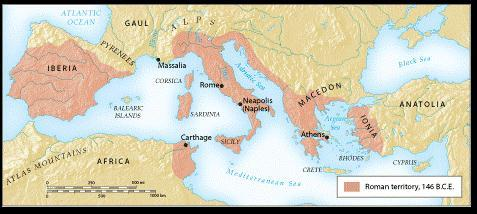 Expansion of the Republic In addition to Carthage, Rome also defeated the Macedonians in Greece, the Gauls to the north
