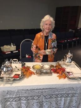 By Suzanne Swenson On October 13, 2018, the Women s Ministry held its fourth Sister-to- Sister event of the year. It was a tea party held in the TBPC sanctuary.