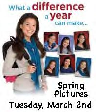 Spring Pictures March 2, 2017 Dress Up Day Students do not have to wear uniforms, but do need to follow out of uniform dress code.