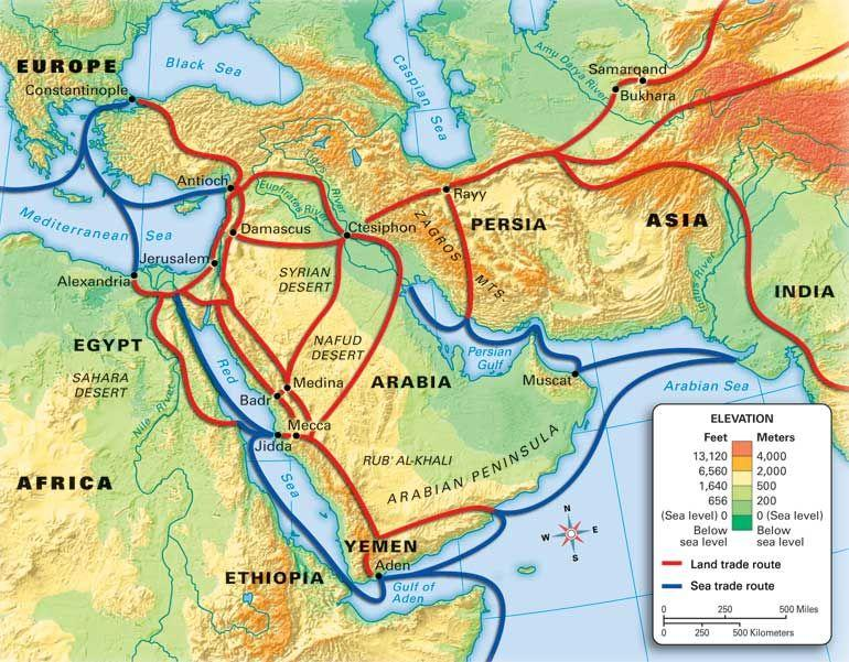 Muslim were able to take over other lands, which gave the, the acces to spread the religion of Islam.