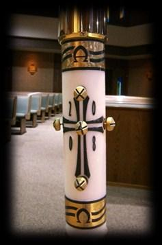 Paschal Candle is the symbol of the light of Christ rising in glory.