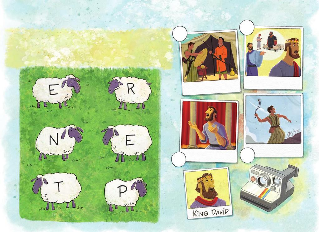 nts Life Eve life. in the order they happened in David s Alpha-baa-t Words Number the events How many words can you create using the letters on the sheep?