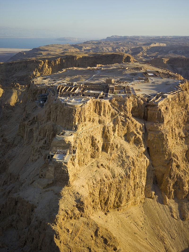 Masada. Here, Jewish Zealots withstood the Roman Army after the fall of Jerusalem in A.D. 70.