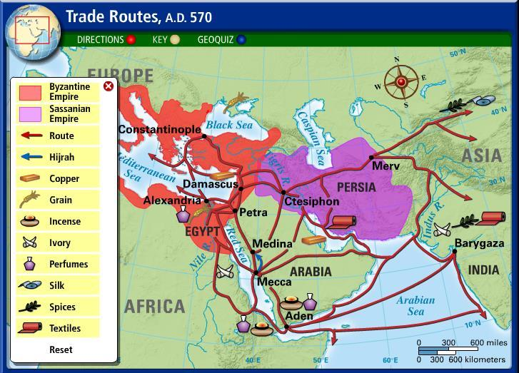 Life on the Arabian Peninsula See the trade routes on p. 87 Review from Yesterday Check out interactive is at the intersection of six trade routes.
