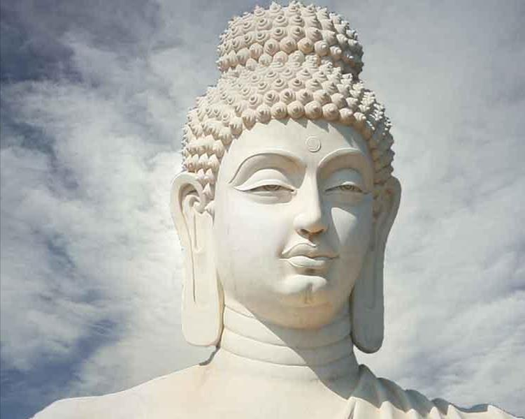 Siddhartha Gautama Father sheltered him in a palace so he would not face human hardships or misery.