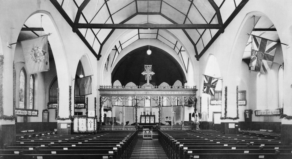 the interior comprising the nave, chancel,