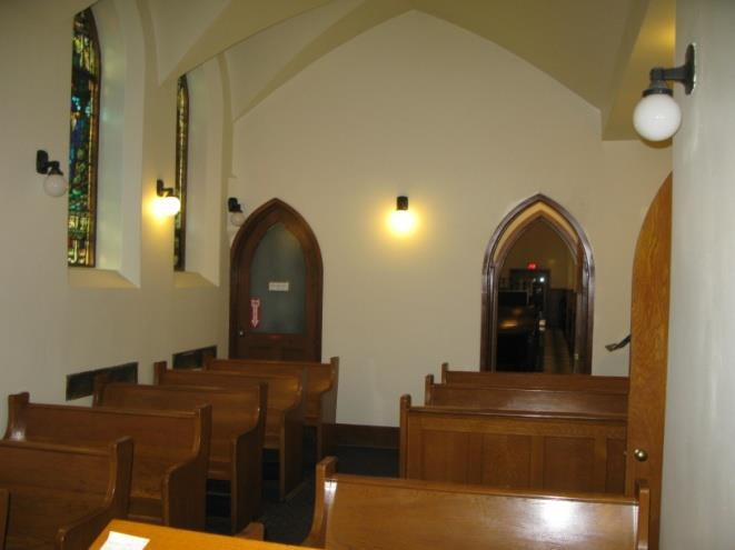 8: chapel interior view from the east)