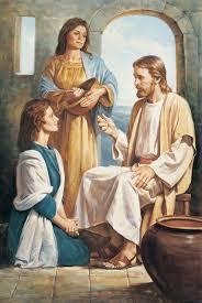 Mary and Martha Worship and Serve (Luke 10:38-42) 38 Now it happened as they went that He entered a certain village; and a certain woman named Martha welcomed Him into her house.
