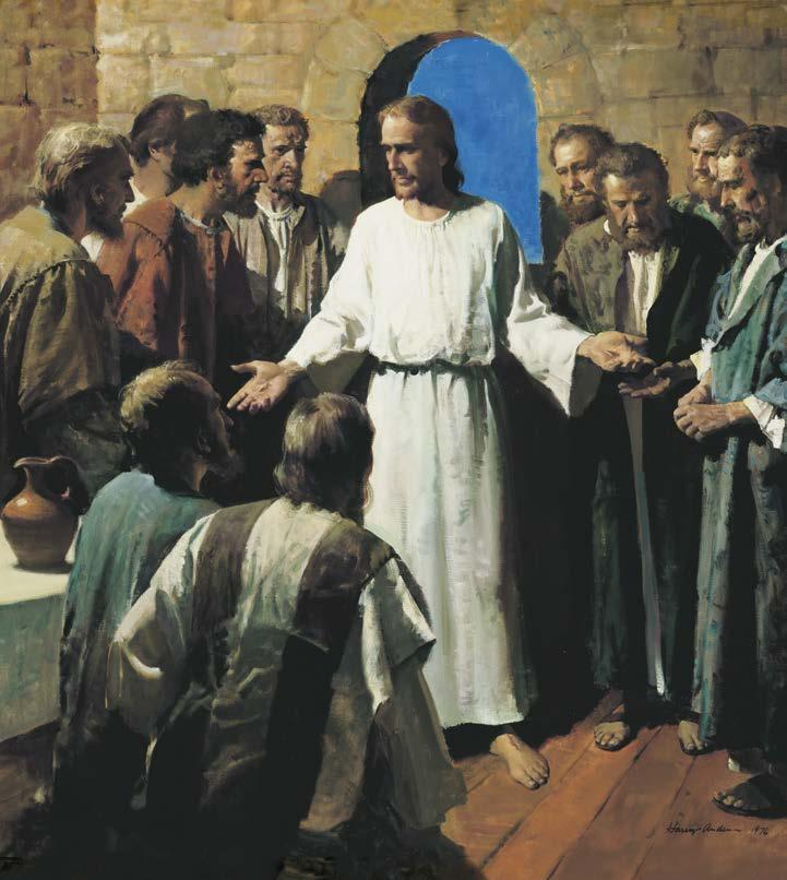 THE GODHEAD, PART 1 Jesus Shows His Wounds (Luke 24:36 40). Jesus appeared to His Apostles with a resurrected body of flesh and bones. The First Vision (Joseph Smith History 1:15 20).
