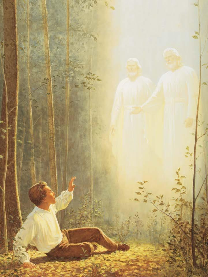 THE RESTORATION, PART 1 Segment 2 (8 minutes) Display the picture The First Vision (Gospel Art Book [2009], no. 90; also available on lds.org/media-library). Invite students to search paragraph 4.