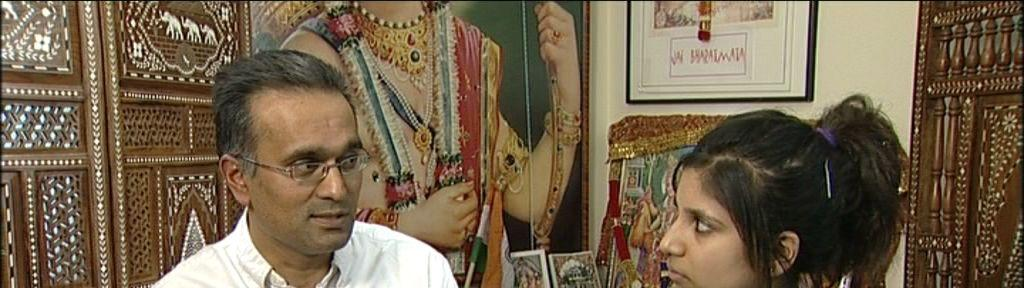 Meera interviews Vijaybhai, a Hinduism teacher at the Swaminarayan temple,