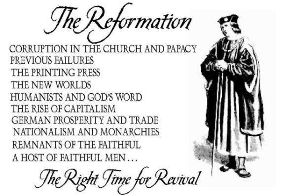 The Reformation Reformation: