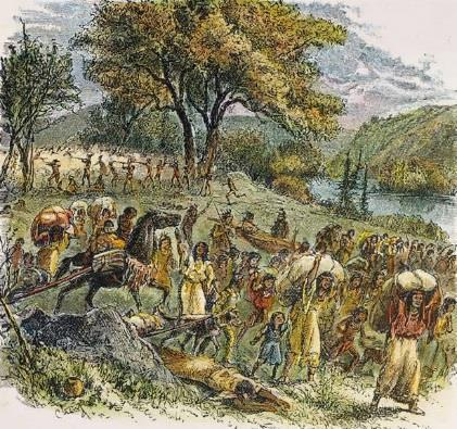 The Black Hawk War 1830s - settlers in Illinois, Iowa pressured