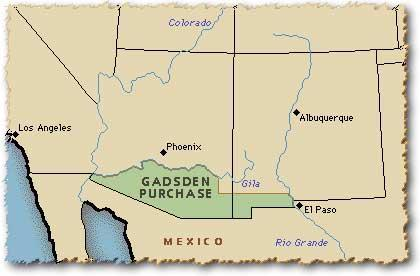 Defeating Mexico Gadsden Purchase (1853) U.S.