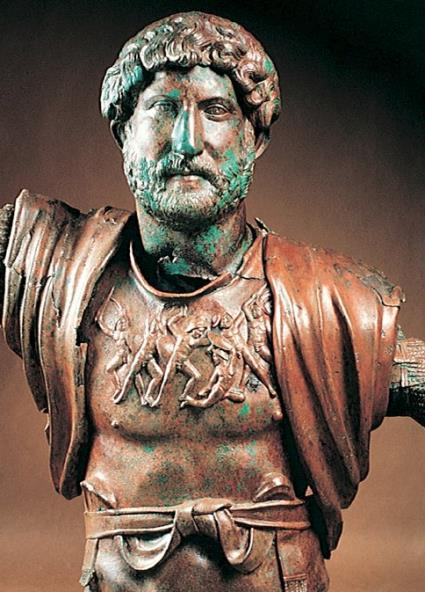 Portrait bust of Hadrian as general, ca. 130-138 CE Hadrian was a connoisseur and lover of all the arts, as well as an author and architect.