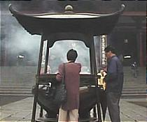 At some shrines, visitors burn incense (osenko) in large incense burners.