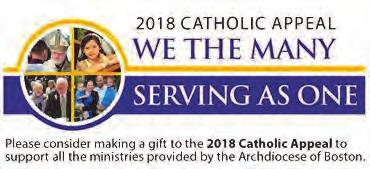 ST. JOSEPH PARISH, QUINCY MA Mass Intentions: Saturday, March 24th 4:00 PM Maggie & Patrick Conroy and Martin Conroy Memorial Sunday, March 25th 8:30 AM Charles Engren 1st Anniversary 10:30 AM Doris