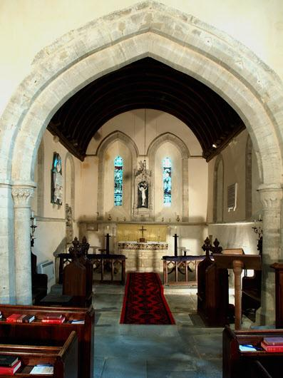 However, records appear to indicate that there was only one monk here and 3 permanent farm workers. The chancel was separated from the nave by the chancel arch and a rood screen.