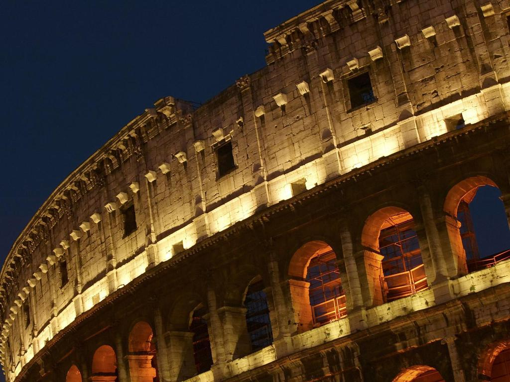 The Colosseum Used 30,000 slaves and 500,000 tons of rock.