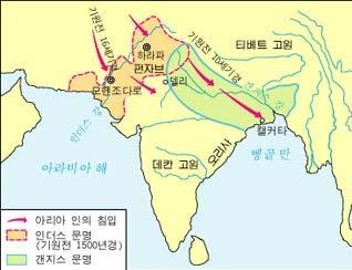 Indian History 2 The Aryans invaded the northern plain of India from the central Asia through the mountainous passes of Afganistan in 1500 BCE.