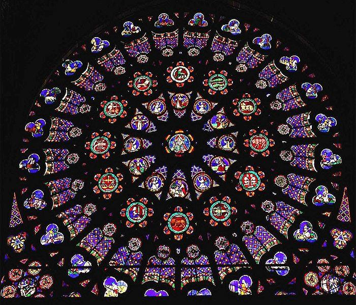 St. Denis North transept Rose window, Subject: The Creation, with God at the centre,