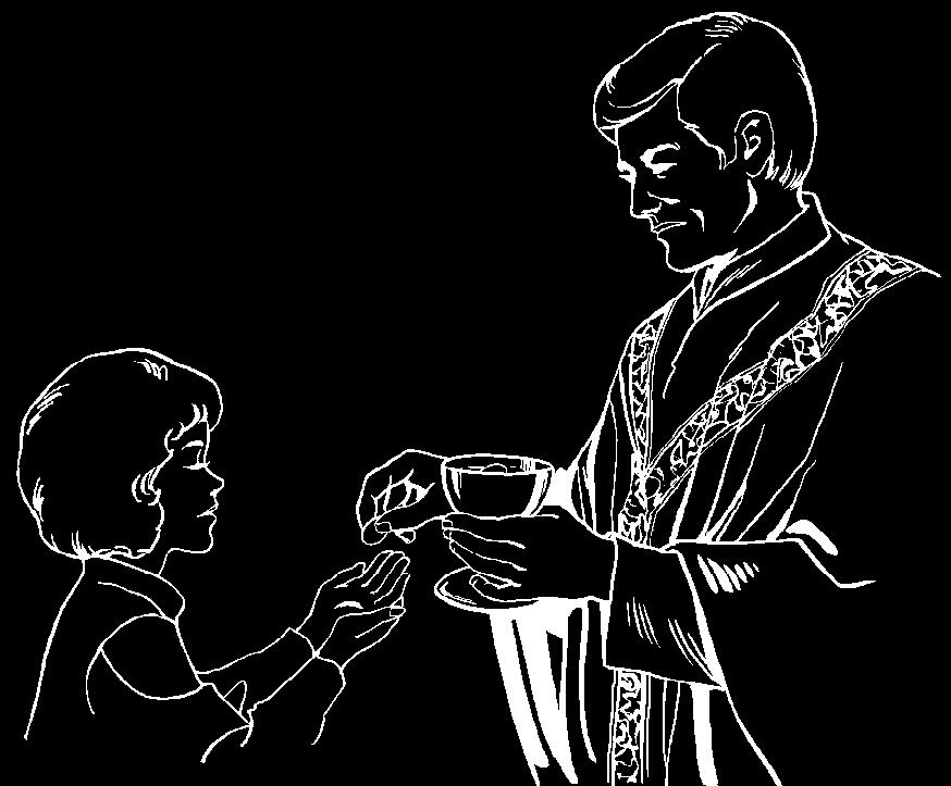 First Eucharist (Communion): After preparing for and celebrating the Sacrament of Reconciliation, young people (in grade three and up) are welcome to prepare to receive the Sacrament of First