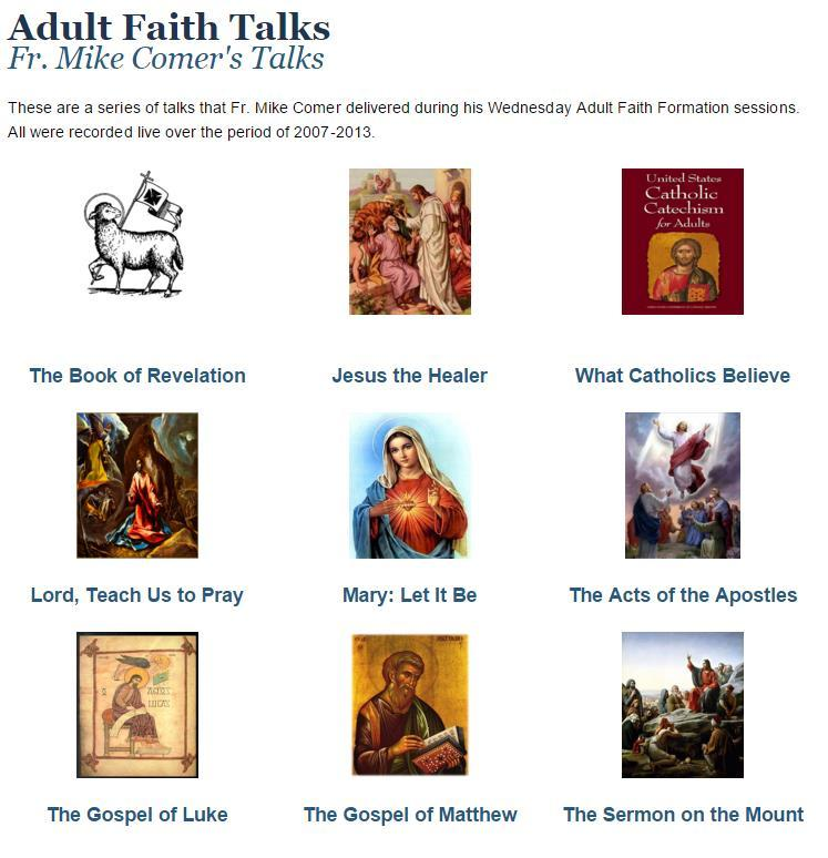 2. Share Audio or Video Gives parishioners an easy way to learn more about