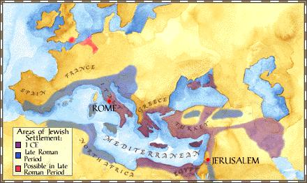 Diaspora 3. Romans controlled Palestine during the time of Jesus. 4.