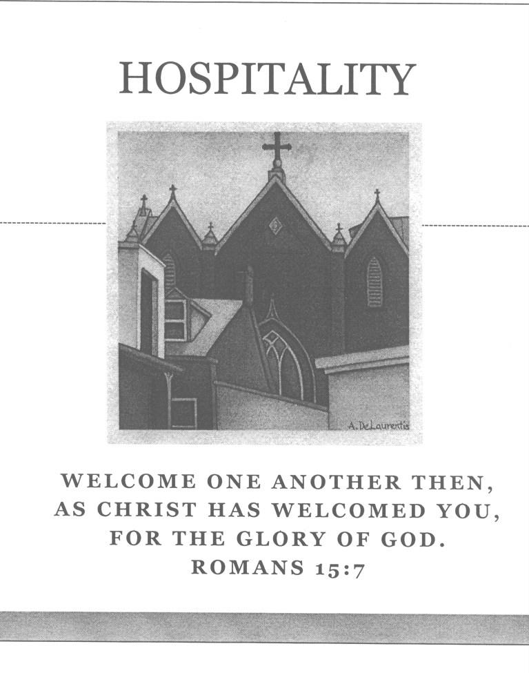 Parish stresses hospitality P a g e 4 by Terry Warco We all think of St. Mary s as a warm and welcoming parish, and indeed it is.