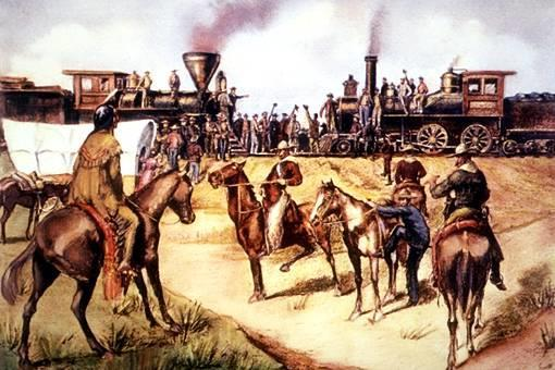 The Transcontinental Railroad was a railroad that stretched across the from the east coast to west coast.