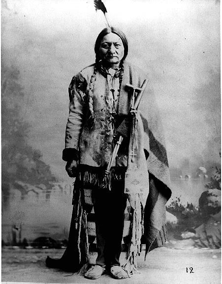 What was Sitting Bull trying to tell the American people? If the Americans do not leave our lands we will fight you.