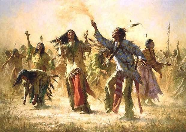 Many Native Americans performed the Ghost Dance. In this dance they believed the buffalo would return and the white settlers would leave.