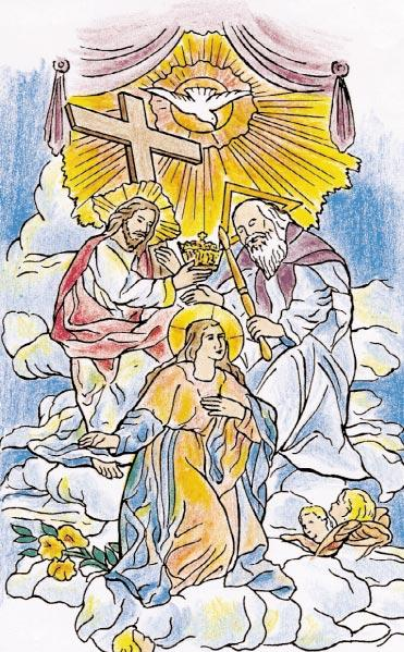 Color The Lives of Jesus and Mary A Coloring Book with Short Meditations on the 15 mysteries of the rosary. Color the pictures!