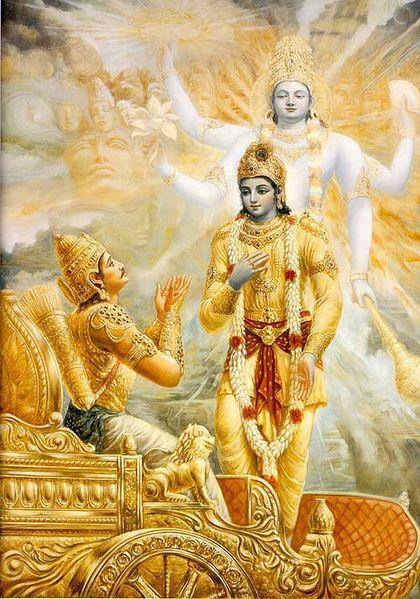 Valmiki and is an important part of the Hindu canon Mahabharata (Bhagavad Gita): Holy text of a conversation between Krishna and