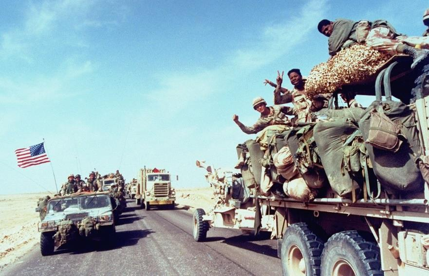 The Ongoing Crisis (cont.) In 1990 Hussein sent troops to seize Kuwait, located at the head of the Persian Gulf.