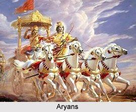 Aryans Definition: Taller, lighter skinned people, who spoke a different language than other native Indians.