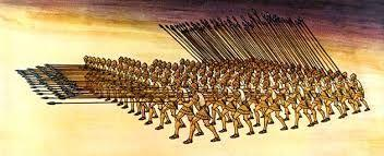 Term: phalanx Definition- Military formation used by greece in both persian and