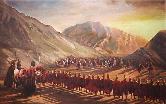 Term: Battle of thermopylae Definition- battle during the persian war where it was 300 spartans