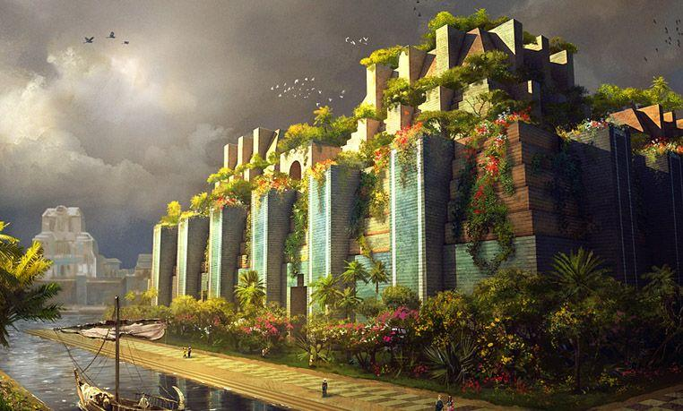 Hanging Gardens Definition:An ascending series of tiered containing tree, shrubs, and