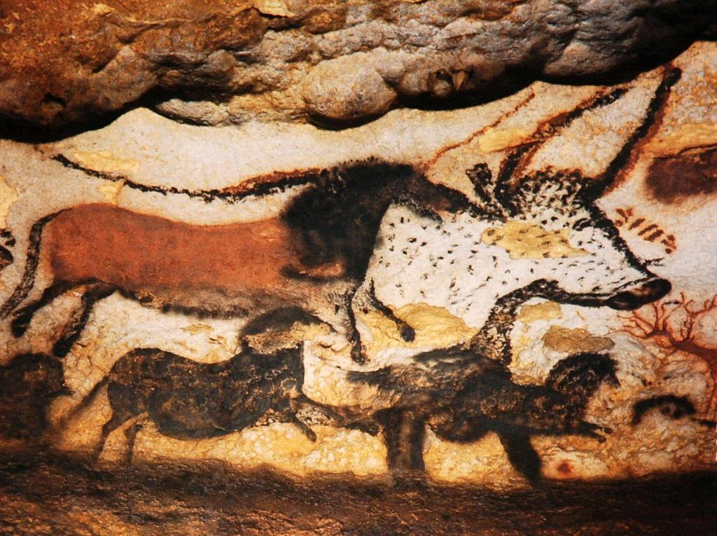 Cave Art Definition: Simple art drawn on cave art with primitive paints painted with