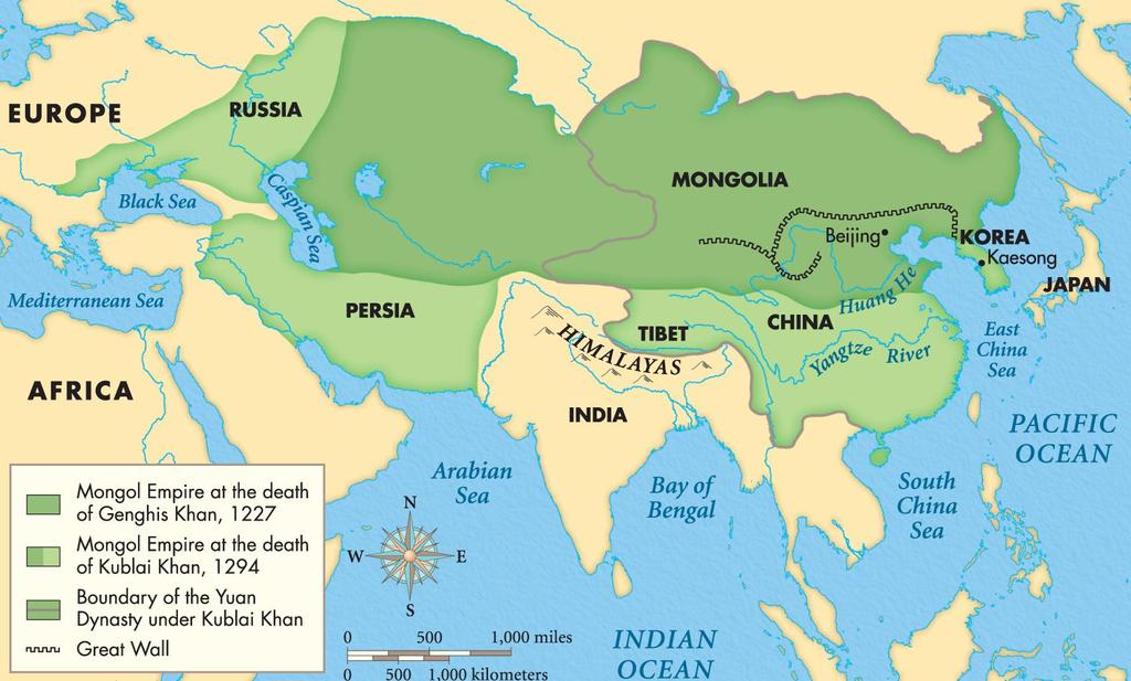 : Nomadic tribes from the steppe who herd sheep, goats, yaks, cattle, horses : Ruler who unified nomadic tribes under his
