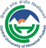 Central University of Himachal Pradesh (Established under Central Universities Act 2009) PO BOX: 21, DHARAMSHALA, DISTRICT KANGRA 176215, HIMACHAL PRADESH FEAT 2014 (Entrance Test for Admission to PG