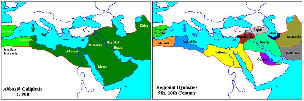Abbasid Empire Decline & Fall 850, independent Muslim dynasties began to rule own regions 900s: Seljuk Turks conquered