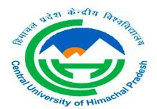 ह म चल प रद श क द र य व श व द य लय Central University of Himachal Pradesh (Established under Central Universities Act 2009) अस थ ई श क षण क खण ड, श प र, ज़ ल क गड़, ह म चल प रद श 176206 Temporary