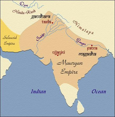 Through war and conquest, which he paid for through harsh taxation, King Chandragupta Maurya expanded the empire through much of modern India. He also improved roads and cleared land for agriculture.